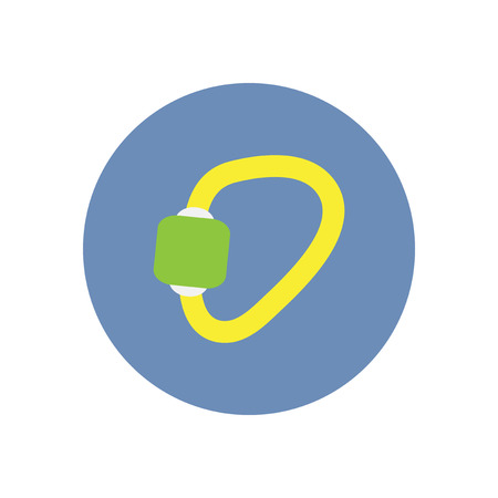 stylish icon in  circle Mountaineering carabiner tool