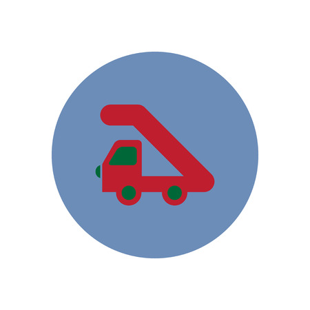 stylish icon in color  circle  plane stairs Illustration