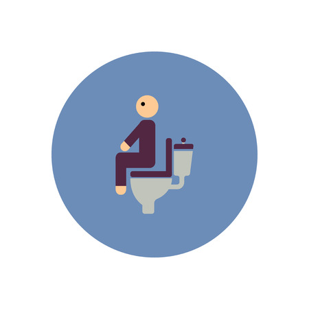 diarrhoea: stylish icon in color  circle people diarrhea