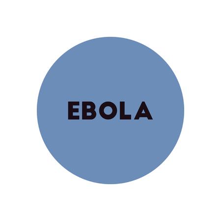 hemorrhagic: stylish icon in color  circle ebola alert