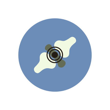 stylish icon in color  circle problems joints