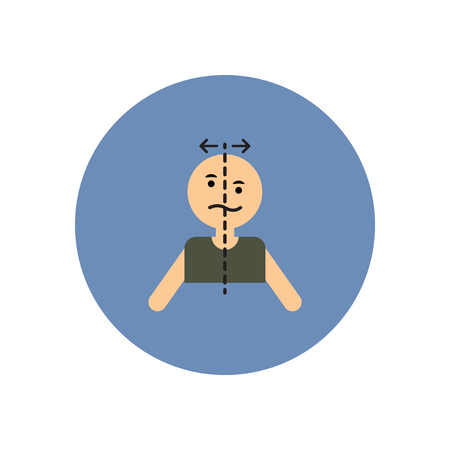 arterial: stylish icon in color  circle attack stroke face