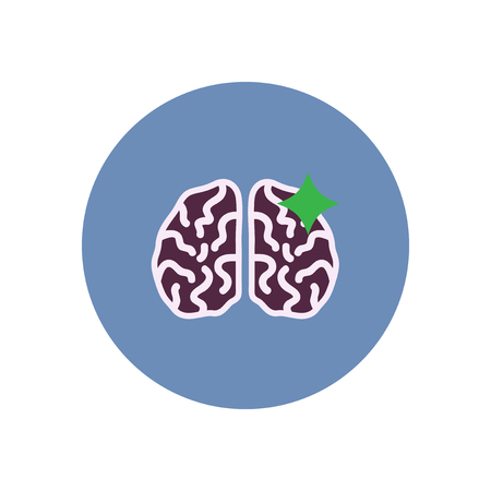 homeostasis: stylish icon in color  circle brain stroke Illustration