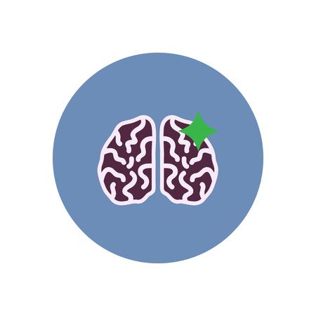 haemorrhage: stylish icon in color  circle brain stroke Illustration