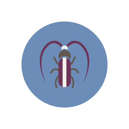 barbel: stylish icon in color  circle beetle barbel
