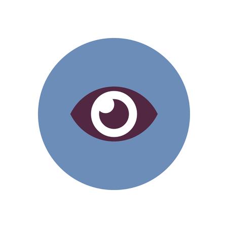 human eye: stylish icon in color  circle human eye