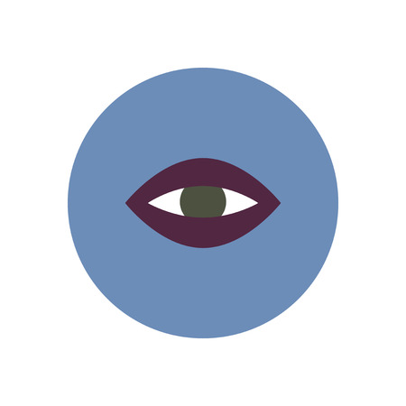 stylish icon in color  circle eye problems Ilustracja