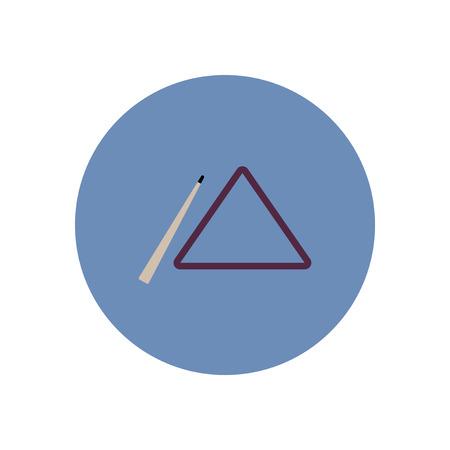 stylish icon in color  circle billiard cue and triangle