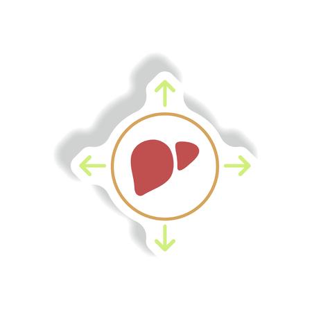 leukemia: Vector paper sticker various symptoms of leukemia on bodies