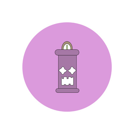 luminary: Vector illustration in flat design Halloween icon candle