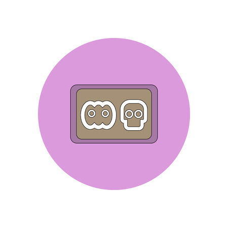 Vector illustration in flat design Halloween icon cookie