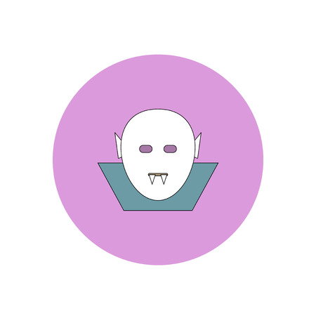 Vector illustration in flat design Halloween icon Dracula Illustration