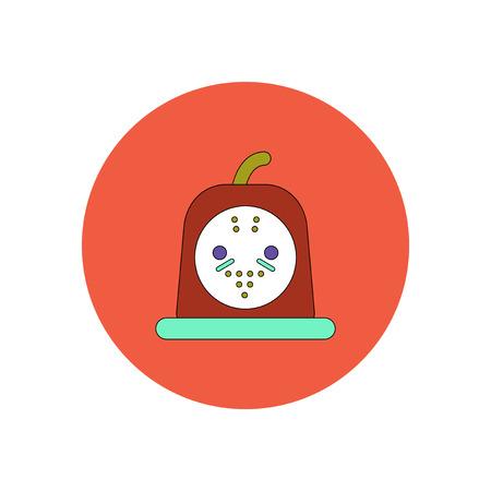 Vector illustration in flat design Halloween icon bloody jelly Illustration