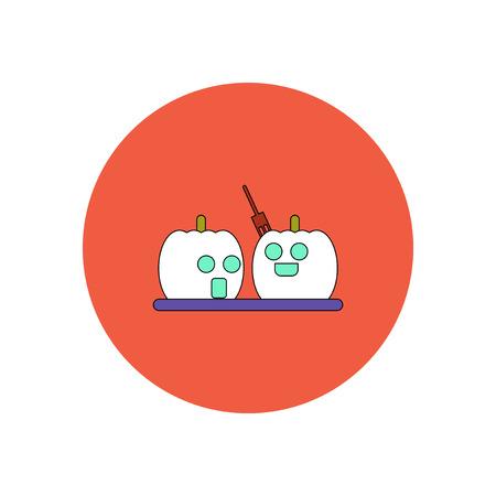 31st: Vector illustration in flat design Halloween icon pumpkins Illustration