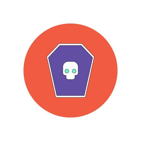 Vector illustration in flat design Halloween icon grave monument and skull Illustration