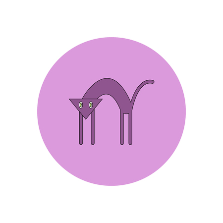 Vector illustration in flat design Halloween icon Cat