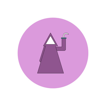 ghost house: Vector illustration in flat design Halloween costume icon