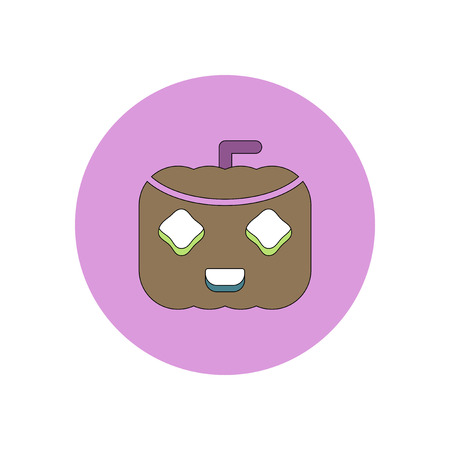 31st: Vector illustration in flat design Halloween icon pumpkin