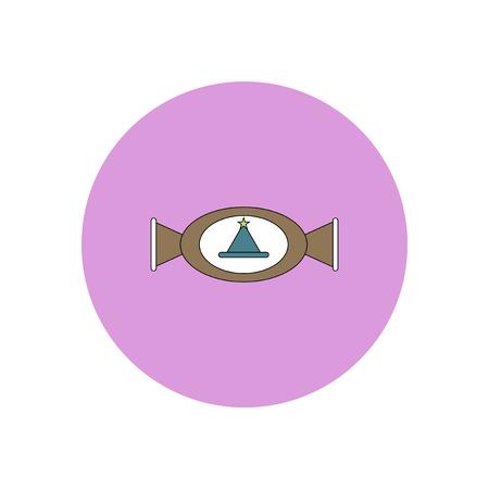 taffy: Vector illustration in flat design Halloween icon candy