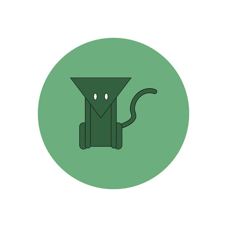 miserable: Vector illustration in flat design Halloween icon Cat
