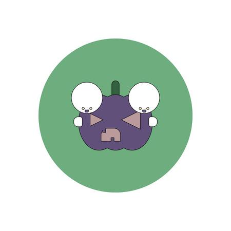 31st: Vector illustration in flat design Halloween icon pumpkin and kids
