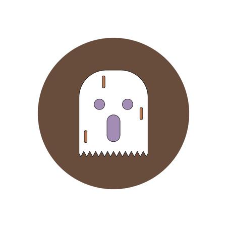 phantom: Vector illustration in flat design Halloween icon spooky ghost