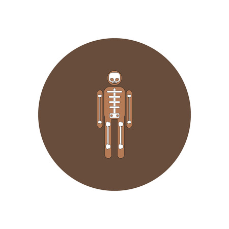 Vector illustration in flat design Halloween icon Human Skeleton costume 矢量图像