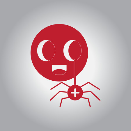 ghostly: Vector illustration in flat design Halloween icon spider on toy Illustration
