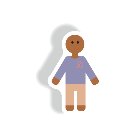 leucemia: Vector de papel de la etiqueta engomada diversos síntomas de la leucemia en el ser humano