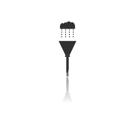 trough: Black and white Vector illustration in flat design of drain pipe