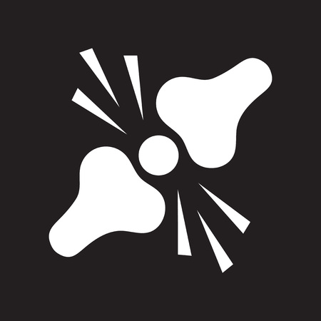 flat icon in black and white  style problems joints Illustration