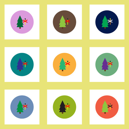 smoke alarm: Collection of stylish vector icons in colorful circles forest fire ban