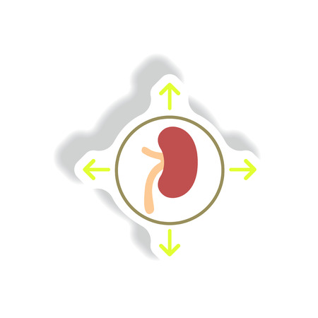 Vector paper sticker various symptoms of Malaria on the bodies Illustration