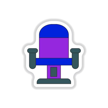 Vector illustration in paper sticker style Movie seat