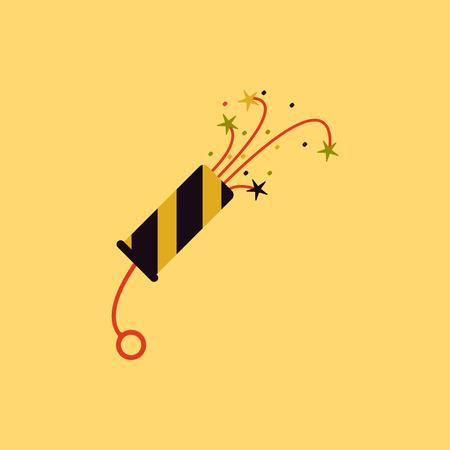 detonating: new year slapstick Vector illustration Christmas slapstick Illustration