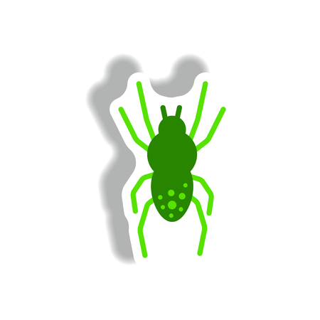 latrodectus: stylish icon in paper sticker style spider insect Illustration