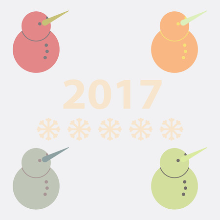 Vector illustration of Snowman collection