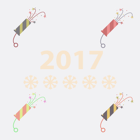 collection of new year slapstick Vector illustration Christmas slapstick Illustration