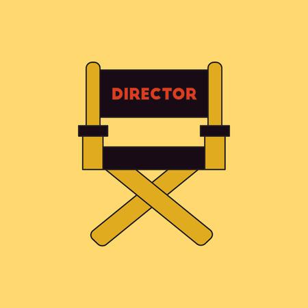 cinema producent zetel Vector illustratie in vlakke stijl Movie director chair Vector Illustratie