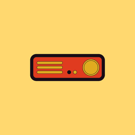 home theater: home Theater Vector illustration in flat style Home cinema