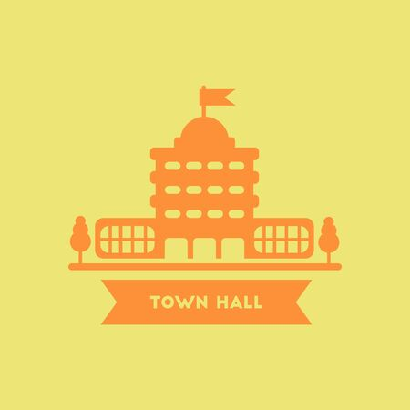 town hall: town hall building