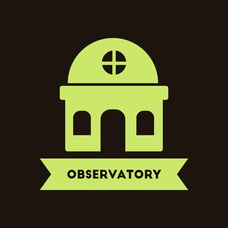 observatory: observatory building Illustration