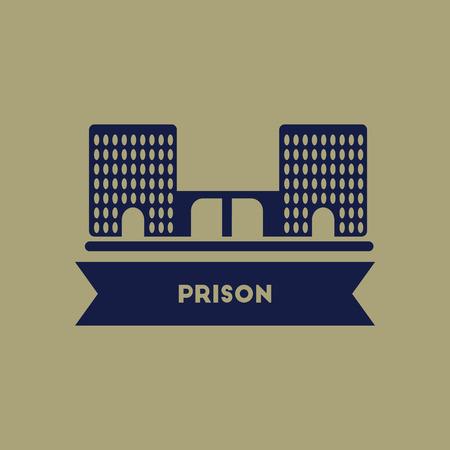 prison: prison building Illustration