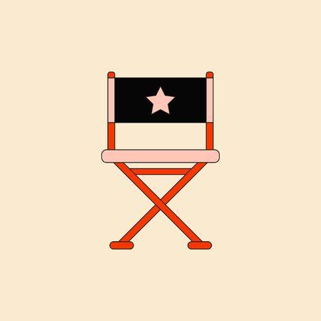 cinema producent zetel Vector illustratie in vlakke stijl Movie director chair