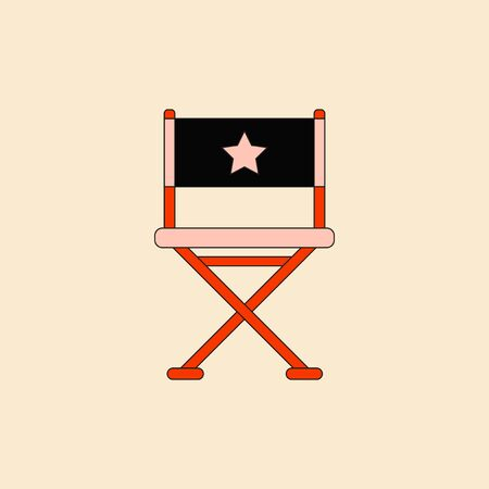 movie director: cinema producer seat Vector illustration in flat style Movie director chair Illustration