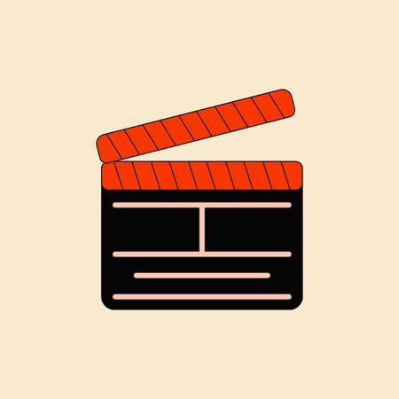 flick: producer clapperboard Vector illustration in flat style Director movie clapperboard Illustration
