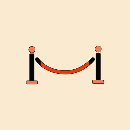 barrier rope: Vector illustration in flat style Barrier rope Illustration