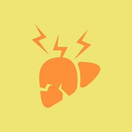 human organ liver, various symptoms of Malaria on the liver