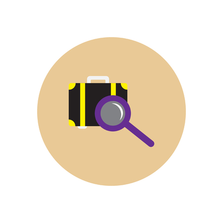 scanner: stylish icon in color  circle baggage Scanner Illustration