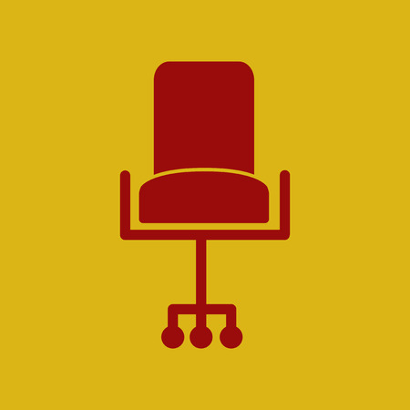 revolving: flat icon office chair, seat